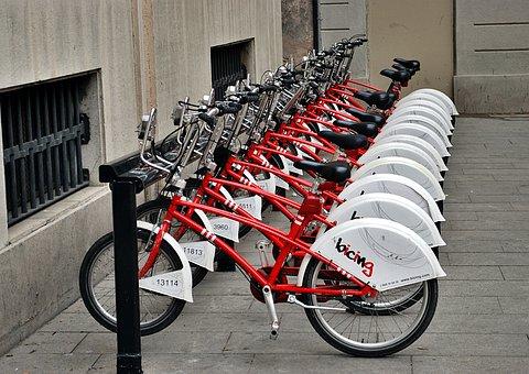 Bicycles, Car Rental, Barcelona, Bicycle Parking