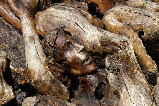 Purgatory, Christian, Carving, Olive Tree