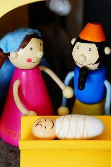 Mary And Joseph, Crib, Christmas Crib Figures, Maria