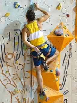 Climb, Climbing Rope, Climber, Man, Muscular