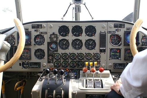 Cockpit, Technology, Aircraft, Auntie Ju, Aviation