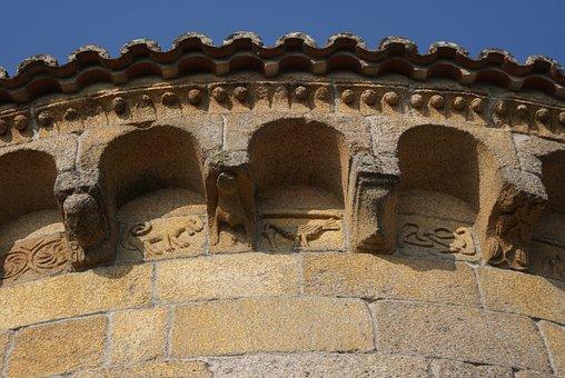 Romanesque, Church, Consoles, Romanesque Church, Wall