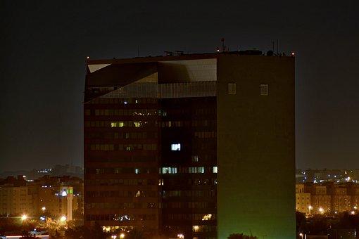 Night, View, City, Jeddah, Saudi, Arabia, Dallah, Tower