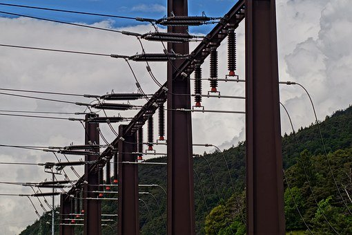 Substation, Current, Electricity, Energy, Technology