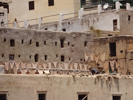 Morocco, Tannery, Fez, Traditional, Architecture