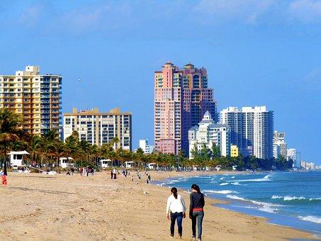 Beach, Sand, Ocean, Fort Lauderdale, Florida, Condo