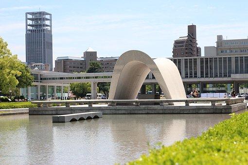 Hiroshima, Memorial, Japan, Monument, Fontana, Museum
