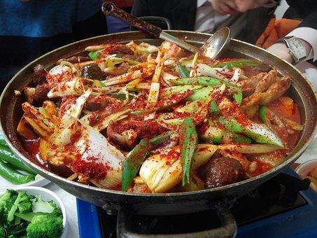 Chicken Bokeumtang, Chicken Leg, Chicken, Food, Cooking