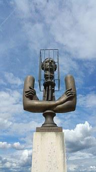 Sculpture, France, Marquis, De Sade