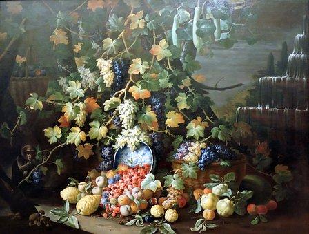 The Framework, Still Life, Fruit, Grapes, Leaves