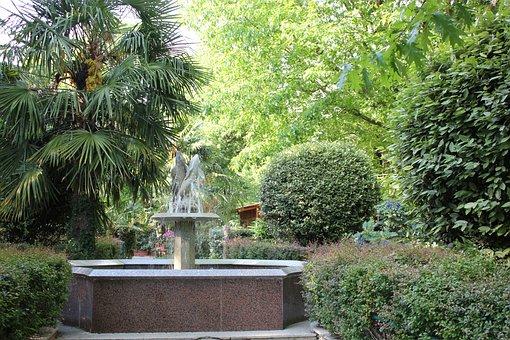 Fontana, Garden, Flowers, Plants, Public Space, Pistoia