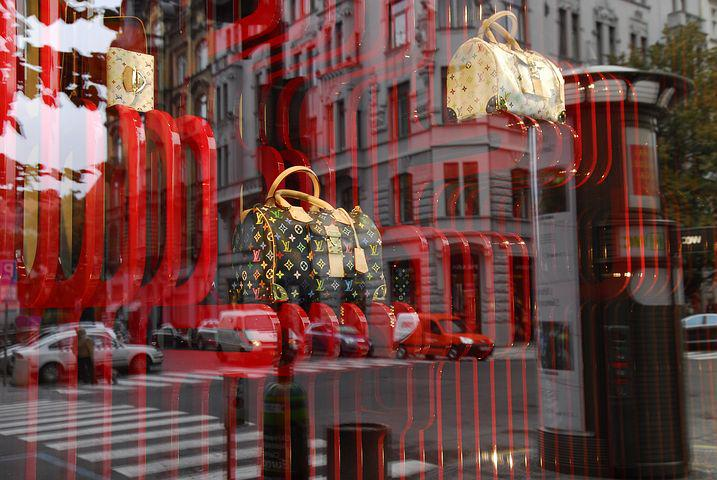 Window, Deco, Bags, Handbags, Red, Mirroring, Creative