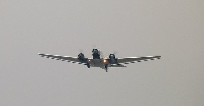 Aircraft, Junker, Ju52, Old, Historically