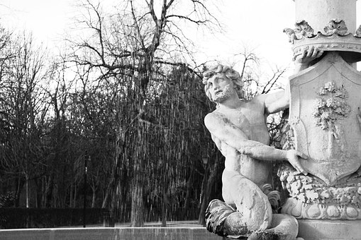 Fontana, Statue, Triton, Spain, Madrid, El Retiro Park