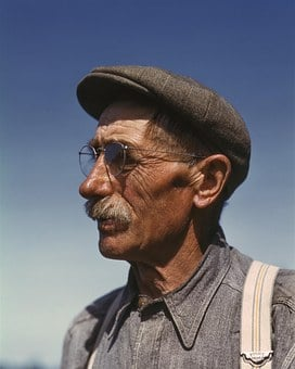 Farmer, Man, 1940s, Forties, Immigrant, German, Vintage