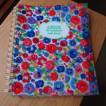 Scripture, Flowers, Me Time, Notebook, Merry