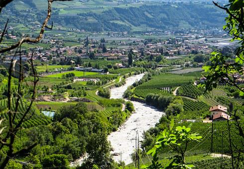 Nature, River, Landscape, Italy, South Tyrol, Meran