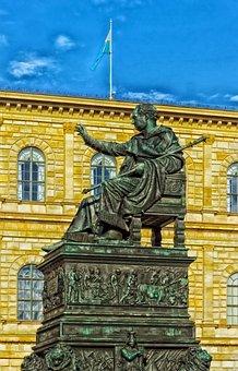 Maximilian I, Joseph Of Bavaria, Statue, Monument