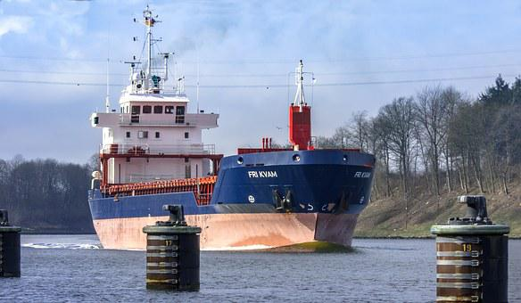 Freighter, Ship, Nok, Container, Port, Container Ship