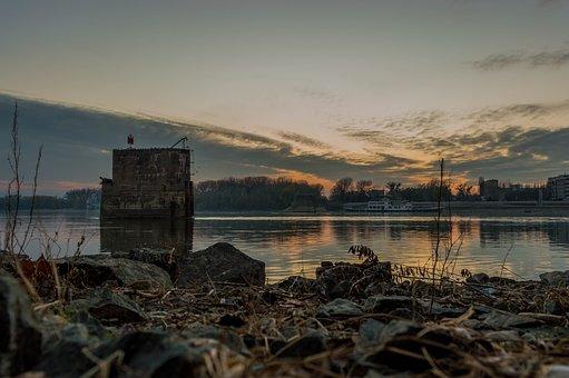Novi Sad, Serbia, Landscape, Sunset, Danube, Europe