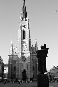 Novi Sad, Serbia, Church, Statue