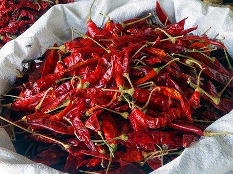 Chili, Spices, Sharp, Red, Pepperoni, Chilli Pepper