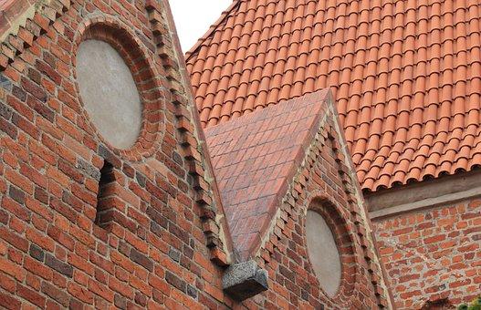 Poland, Torun, Architecture, Roof, Brick