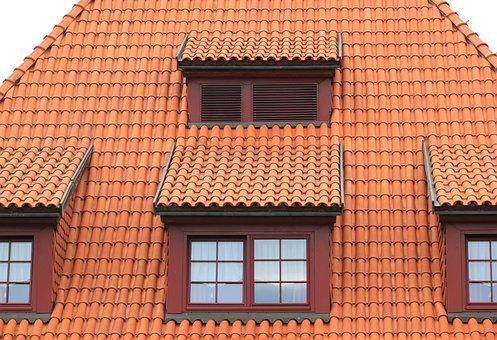 Poland, Torun, Architecture, Tiles, Windows