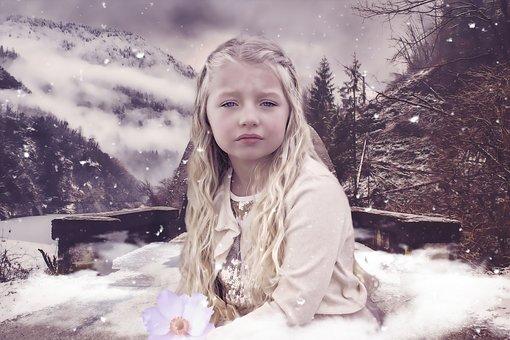 Fantasy, Girl, Children, Female, Nature, Portrait