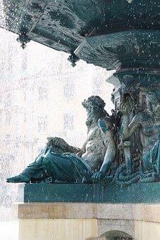 Fontana, Statue, Monument, Water, Sculpture, Lisbon