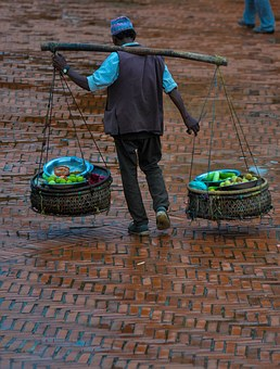 Nepal, Vegetable, Seller, Durbar Square, Traditional