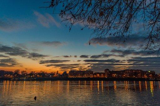 Novi Sad, Serbia, Sunset, Danube, Sky, Travel, Europe