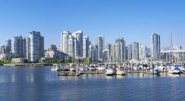 Harbor, Condos, Boats, Vancouver, Architecture, Skyline