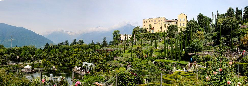 Landscape, Italy, South Tyrol, Meran, Vacations, Wine