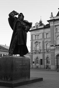 Novi Sad, Serbia, Statue, City Hall