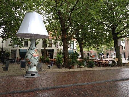 Art, Delft, Holland, Lamp, Design, Street, Dutch, Town