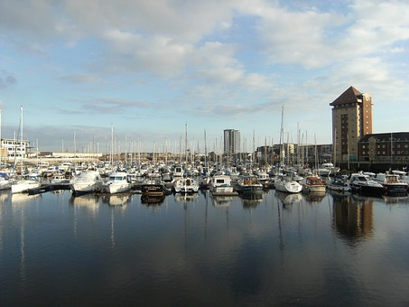Swansea Marina, Water, Boats, Reflection, Nautical