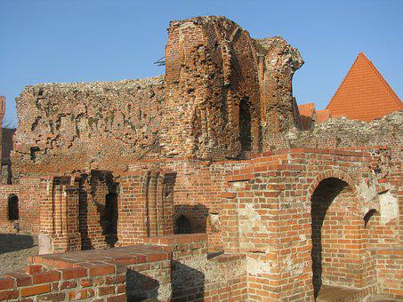 The Ruins Of The, Crusaders, Castle, Toruń, Monument