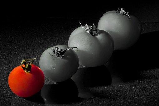 Tomato, Red, Fruit, Color Key, Vegetables, Food, Frisch