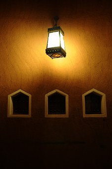 Mud, Light, Dark, Traditional, Old, Saudi Arabia