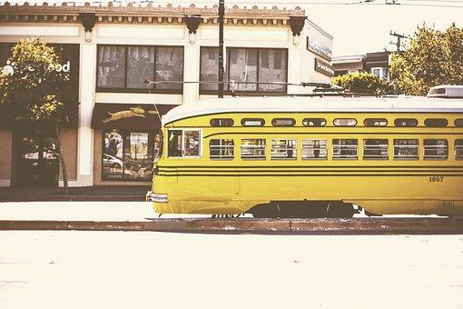 Tramway, Tram, Transport, Urban, San Francisco