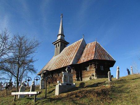 Church, Transylvania, Romania, Wood, Cemetery, Orthodox