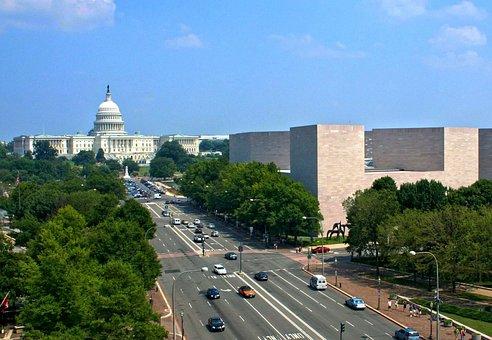 Washington Dc, Boulevard, Avenue, Street, Road, Traffic