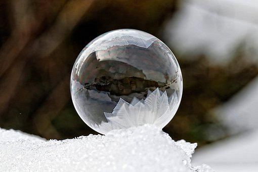 Bubble, Ball, Sphere, Ice, Frost, Frozen, Cold, Wintry