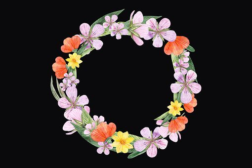 Wreath, Flowers, Floral, Bloom, Blossom