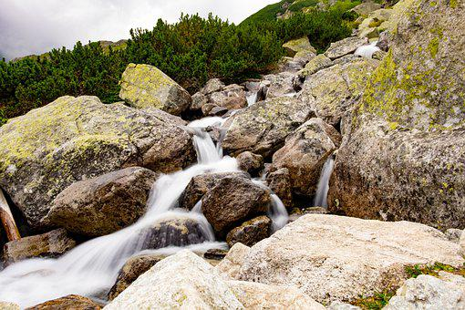 Landscape, Cascades, Stream, River, Water, Mountain