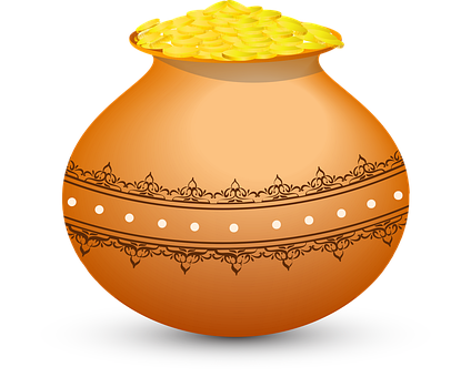 Golden Pot, Magical Pot, Pot, Coin Pot