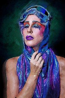 Painting, Woman, Model, Female Model, Fashion, Female