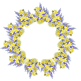 Frame, Border, Wreath, Floral, Flowers, Freesias, Flora