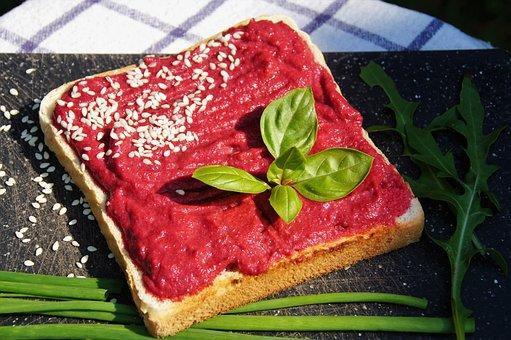 Red Beets, Toast, Brunch, Healthy, Vegetarian, Vegan